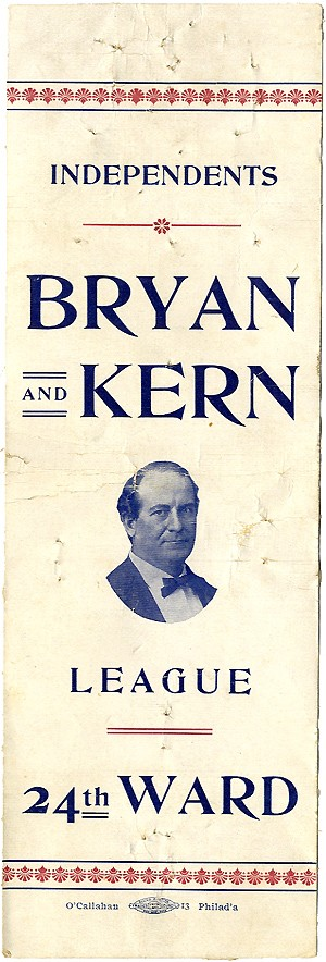 Bryan and Kern: Unlisted INDEPENDENTS BRYAN AND KERN LEAGUE ribbon