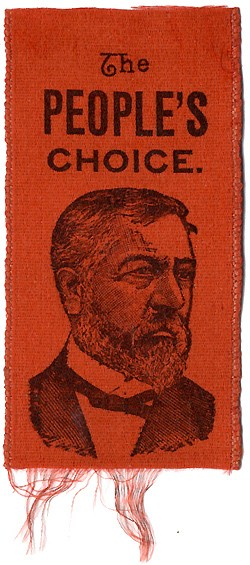 James Blaine: THE PEOPLE'S CHOICE portrait ribbon