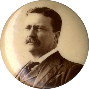 Theodore Roosevelt: 1904 campaign real photo pinback