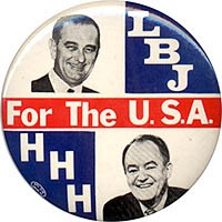 LBJ HHH For the U.S.A.