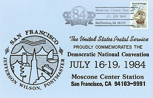 1984 DNC San Francisco - Official Postmark