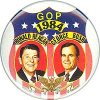 GOP 1984 / Ronald Reagan George Bush