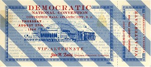 1964 DNC Atlantic City - VIP Alternate