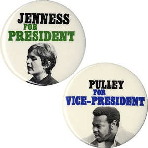 1972 Socialist Workers Party: Jenness and Pulley pinback set