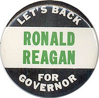 Let's Back Ronald Reagan for Governor