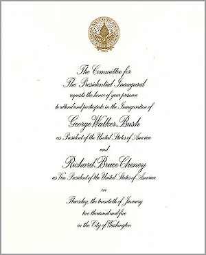 2005 Official Inaugural Invitation