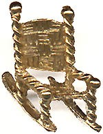 John F. Kennedy: 1964 campaign rocking chair lapel pin